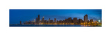 Chicago Skyline From North Ave Beach Panorama