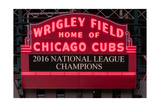 Wrigley Field Marquee Cubs Champs 2016 Front