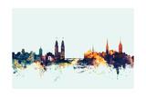 Zurich Switzerland Skyline Papier Photo par Michael Tompsett