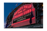 Wrigley Field Marquee Cubs National League Champs