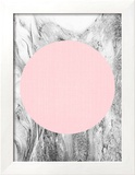 Geometric Pink Grey Reproduction encadrée par LILA X LOLA