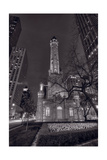 Chicago Water Tower Michigan Avenue BW