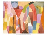 Movement of Vaulted Chambers, 1915 Reproduction d'art par Paul Klee