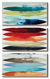 Even Flow  3 Panel Canvas Set (Vertically Stacked Display)