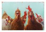 Chicken for Dinner Reproduction d'art par Lucia Heffernan