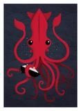 Kraken Attaken Reproduction d'art par Michael Buxton