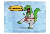 Karate Dino Reproduction d'art par Marcus Prime