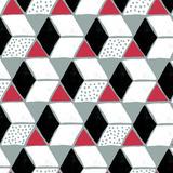 Tumbling Blocks IV Reproduction d'art par Myriam Tebbakha