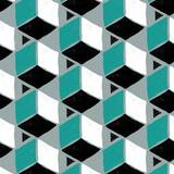 Tumbling Blocks II Reproduction d'art par Myriam Tebbakha