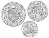 Raw Iron Spiral Wall Trio
