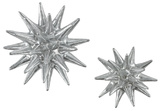 Cosmic Burst Wall Decor Pair - Silver *