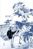 Blue & White Asian Garden I