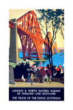 """Forth Bridge"" Vintage Travel Poster  London & North Eastern Railway of England & Scotland"