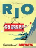"""""""Rio"""" Vintage Travel Poster  International Airways"""