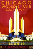"""Chicago World's Fair"" Vintage Travel Poster  1933"