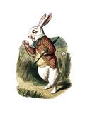 """I'm Late"" Alice in Wonderland White Rabbit by John Tenniel"