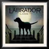 Moonrise Black Dog