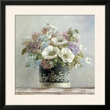 Anemones in Black and White Hatbox