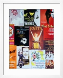 NYC Street Art - Patchwork of Old Posters of Broadway Musicals - Times Square - Manhattan