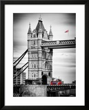Tower Bridge with Red Bus in London - City of London - UK - England - United Kingdom - Europe