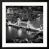 View of City of London with the Tower Bridge at Night - London - UK - England - United Kingdom