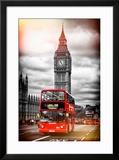 London Red Bus and Big Ben - City of London - UK - England - United Kingdom - Europe