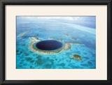 Belize Aerial of Belize Blue Hole