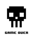 Game Over - Black Skull