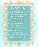 God's Top Ten Blue and Gold Design Reproduction d'art par Inspire Me