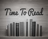 Time To Read - Wood Background Black and White