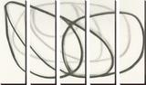 Wire Shadow III Tableau multi toiles par Maria Lobo