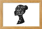 Hand Drawn Romantic Typography Poster Lovely Quote Women are Ma