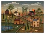 Village de jour Reproduction d'art par Kim Lewis