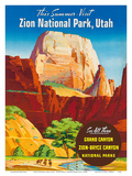 Zion National Park  Utah - Great White Throne Monolith