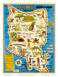 Oahu  Hawaii Mem-O-Map - World War II Military Souvenir Map