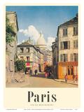 Paris  France - View of Montmartre - Basilica of the Sacred Heart (Sacre-Cœur)