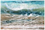Shoreline study 20216 Reproduction d'art par Carole Malcolm