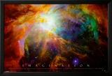 Imagination Nebula - Albert Einstein Quote Poster en laminé encadré