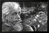 JDH- Einstein Quazar Poster en laminé encadré par James Danger Harvey