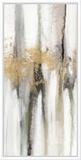 Falling Gold Leaf II Tableau sur toile encadré par Studio W