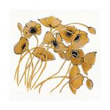Gold Black Line Poppies II