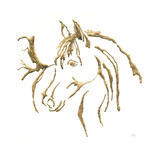 Gilded Mare On White
