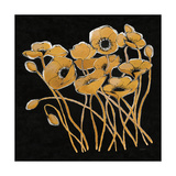 Gold Black Line Poppies I v2