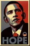 Barack Obama (Hope  Shepard Fairey Campaign) Art Poster Print