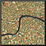 London Map Reproduction montée par Jazzberry Blue