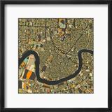 New Orleans Map Reproduction encadrée par Jazzberry Blue