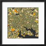 Baltimore Map Reproduction encadrée par Jazzberry Blue
