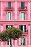 Dolce Vita Rome Collection - Pink Building Facade II Papier Photo par Philippe Hugonnard