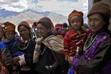 A Group Of Ladakhi Onlookers At The Karsha Gustor Festival