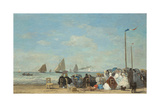 Beach Scene at Trouville  1863